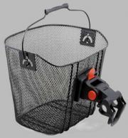 UNIAG - ocelový košík na řidítka kola AUTHOR